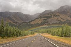 Rocky Mountain Rainbow Stock Photo