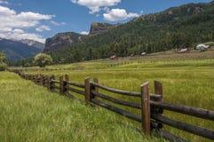 Rocky Mountain Ranch Country Photographie stock libre de droits