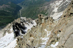 Rocky mountain range Royalty Free Stock Photo