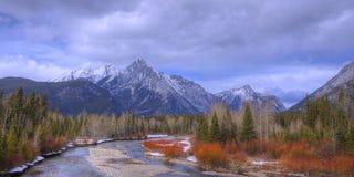Rocky Mountain River Panorama Stock Image