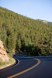Rocky Mountain Road. Mountain road through the Rocky Mountain National Park, Colorado Stock Photo