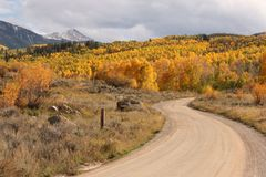 Rocky Mountain Road Image stock