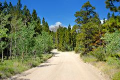 Rocky Mountain Road Royalty Free Stock Images