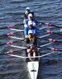 Rocky Mountain Rowing Club-ras in de Directeuren Challenge Quad Men in het Hoofd van Charles Regatta stock afbeeldingen