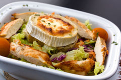 Rocky Mountain Salad With Slices Of Chicken Breast Royalty Free Stock Images