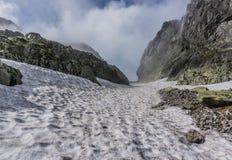 Rocky mountain scenery with beautiful blue sky. stock photos