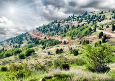 Rocky mountain scenery Royalty Free Stock Images