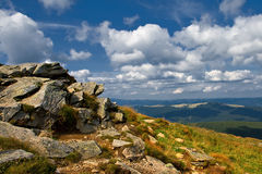 Rocky mountain slide Stock Photography