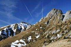 Rocky mountain slide Stock Photos