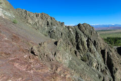 Rocky mountain slope. In the Andes Royalty Free Stock Photo