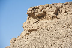 Rocky mountain slope in a desert Royalty Free Stock Photo
