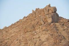 Rocky mountain slope in a desert Royalty Free Stock Photos