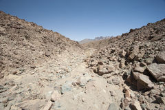 Rocky mountain slope in a desert Royalty Free Stock Photography