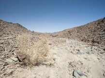 Rocky mountain slope in a desert stock photo