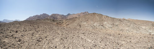 Rocky mountain slope in a desert Royalty Free Stock Images