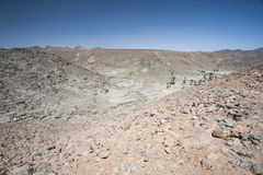Rocky mountain slope in a desert Royalty Free Stock Image
