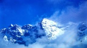 Rocky Mountain Snow Stock Afbeelding