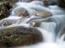 Rocky mountain stream detail, long exposure, silky water. Stock Photo