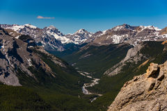 Rocky Mountain summer hiking views. Hiking views of the Canadian Rocky Mountains, Nihahi Ridge Kananaskis Country Alberta Canada Stock Photo