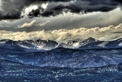 Rocky mountain summer storm Stock Image