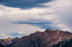 Rocky Mountain Summits Clouds Brings Manson Colorado Storms Stock Photography
