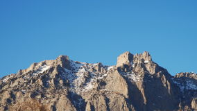 Rocky mountain top Ai-Petri stock video footage