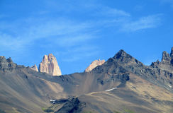 Rocky mountain in Torres del Paine national park Royalty Free Stock Photography