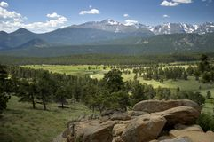Rocky Mountain View Royalty Free Stock Image