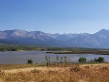 Rocky mountain view. View from the rocky mountains near glacier national park Royalty Free Stock Photography