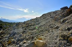 Rocky Mountain View on Papandayan Royalty Free Stock Image