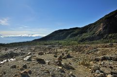 Rocky Mountain View on Papandayan Stock Photography
