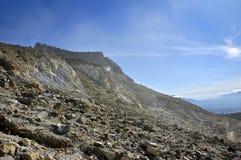 Rocky Mountain View on Papandayan Stock Photography