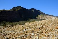 Rocky Mountain View on Papandayan Stock Photo