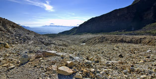 Rocky Mountain View on Papandayan Royalty Free Stock Images