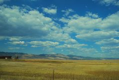 Rocky mountain view. On the road Rocky mountain view Royalty Free Stock Photo