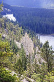 Rocky Mountain - view of the rock formation Hoodoos in and aroun Stock Photos
