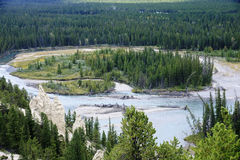 Rocky Mountain - view of the rock formation Hoodoos in and aroun Royalty Free Stock Photos