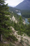 Rocky Mountain - view of the rock formation Hoodoos in and aroun Stock Photo