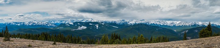 Rocky Mountain Views. Scenic views of the Eastern Slopes of the Canadian Rocky Mountains Alberta Canada in springtime Stock Images