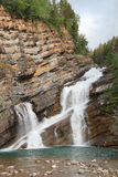 Rocky Mountain Waterfall - Waterton, Alberta Stock Images