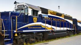 Rocky Mountaineer Engine Train fotografia stock