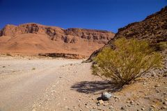 Rocky mountainous desert in the middle of Morocco Stock Photography