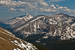 Rocky Mountains. Peaks of the Rockies in National Park Colorado Stock Photo