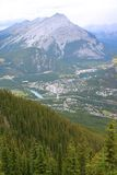 Rocky Mountains. Rockies in Banff, Alberta (Sulpher Mountian Stock Photography