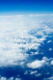 Rocky Mountains. Aerial view, North America Stock Image