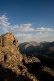 Rocky Mountains. Sunset over the mountain in the Rocky Mountain National Park, Colorado royalty free stock photo