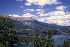 Rocky Mountains. View of a lake and mountains in Colorado Royalty Free Stock Photo