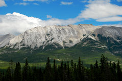 Rocky Mountains. A beautiful sunny day in the rugged Rocky Mountain range Stock Images