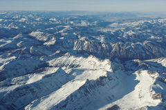 Rocky Mountains from above Royalty Free Stock Photography