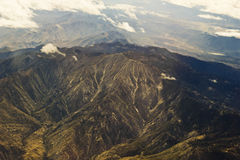 Rocky Mountains Aerial View Stock Image